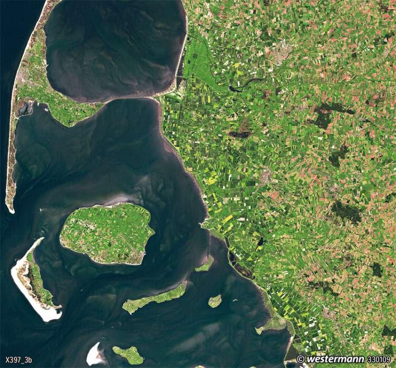 Nordfriesland | Gezeiten | Deutschland - Tourismus und Naturschutz | Karte 93/2