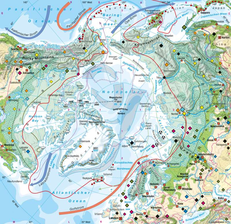 Nordpolargebiet (Arktis)   Naturraum   Arktis   Karte 168/1