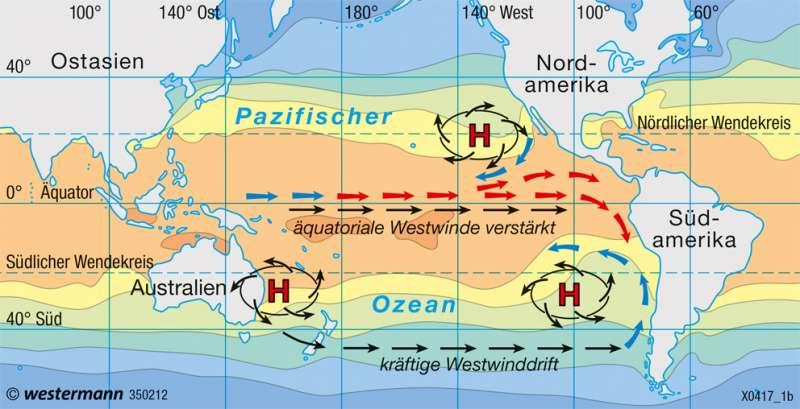 Pazifischer Ozean | Tropisches Wettergeschehen | Pazifischer Ozean - El Niño | Karte 205/2