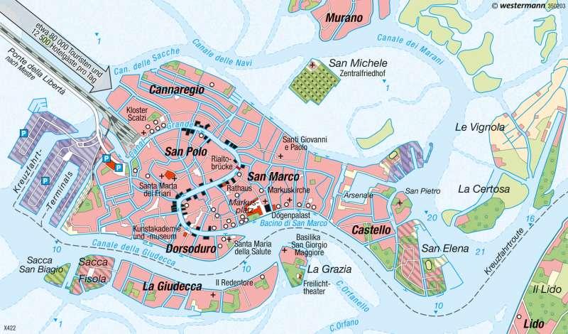 Diercke Weltatlas Kartenansicht Venedig Stadt Auf Dem Wasser