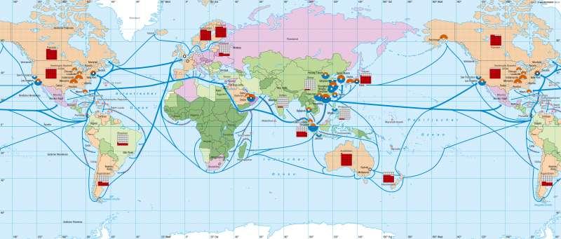 | Globalisierte Wirtschaft | Erde - Globalisierung | Karte 268/1