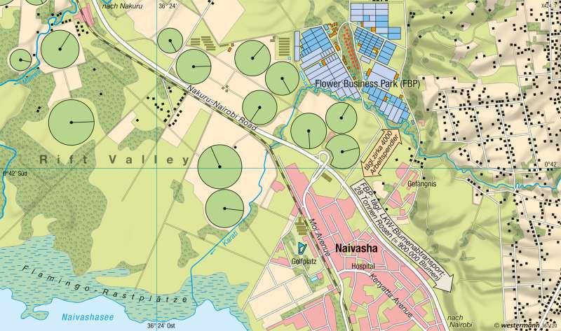 Naivasha (Kenia) | Rosenanbau für den EU-Markt | Erde - Globalisierung | Karte 269/3