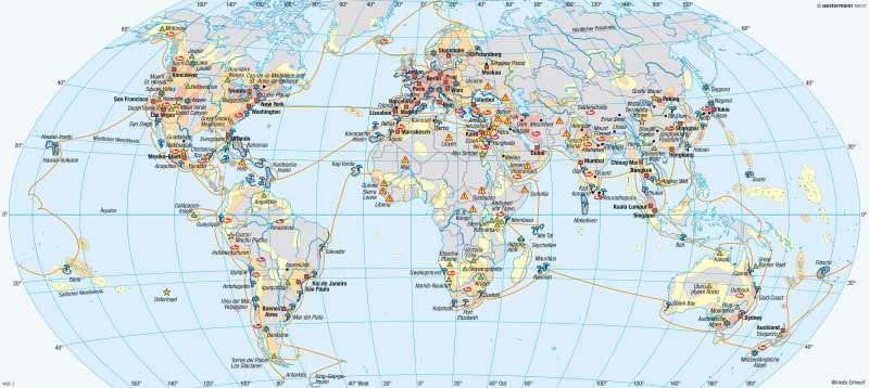 Erde | Tourismusformen und Reiseziele | Erde - Tourismus | Karte 272/1