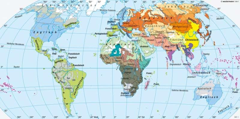 Erde | Sprachen | Religionen und Sprachen | Karte 194/2