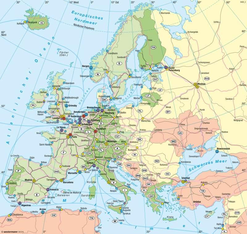 Europa | Verkehr | Verkehr | Karte 64/1