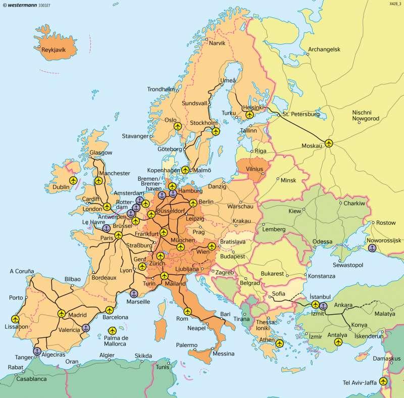 Europa   Verkehr   Europa   Karte 113/5