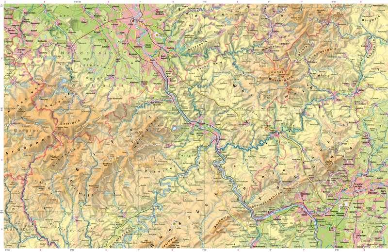 Mittelrheintal Karte.Diercke Weltatlas Kartenansicht Physische Karte 978