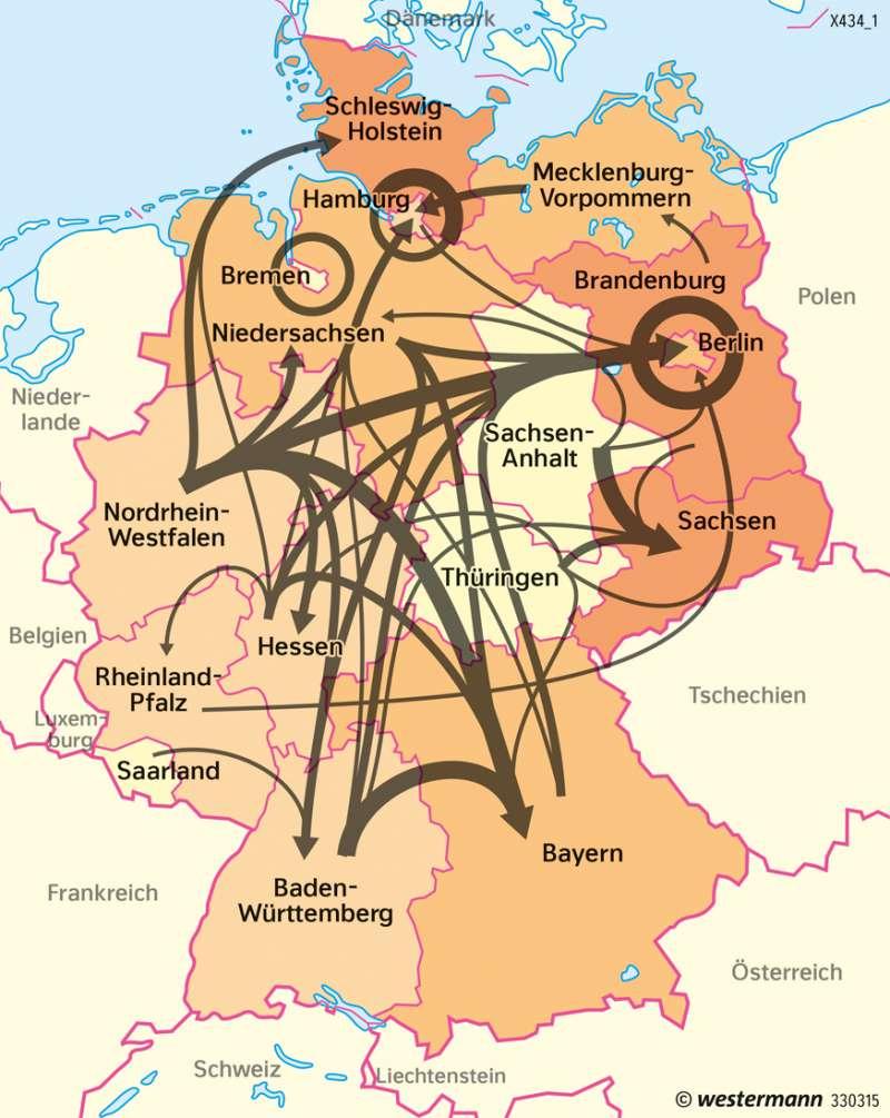 Deutschland | Inlandsmigration | Deutschland | Karte 77/9