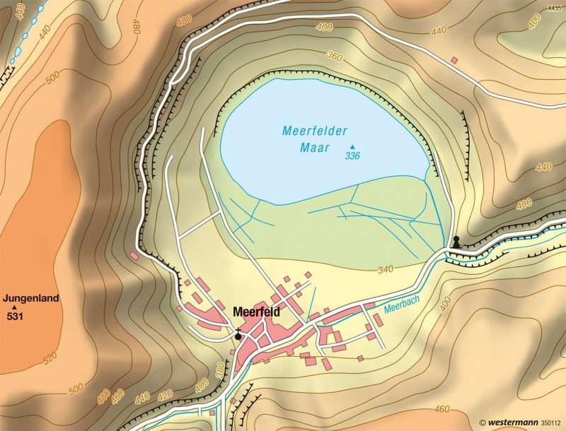 Meerfelder Maar | Physische Karte | Vom Bild zur Karte | Karte 8/2