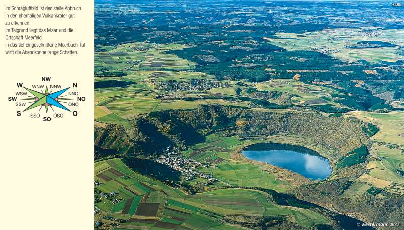 Meerfeld (Eifel)   Maar   Vom Bild zur Karte   Karte 8/1