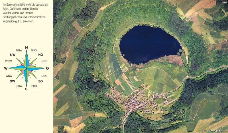 Meerfeld (Eifel) | Maar | Vom Bild zur Karte | Karte 8/1