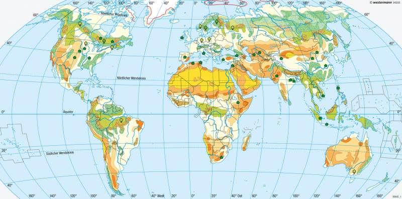 Erde | Landschaftswandel | Umwelt | Karte 182/1