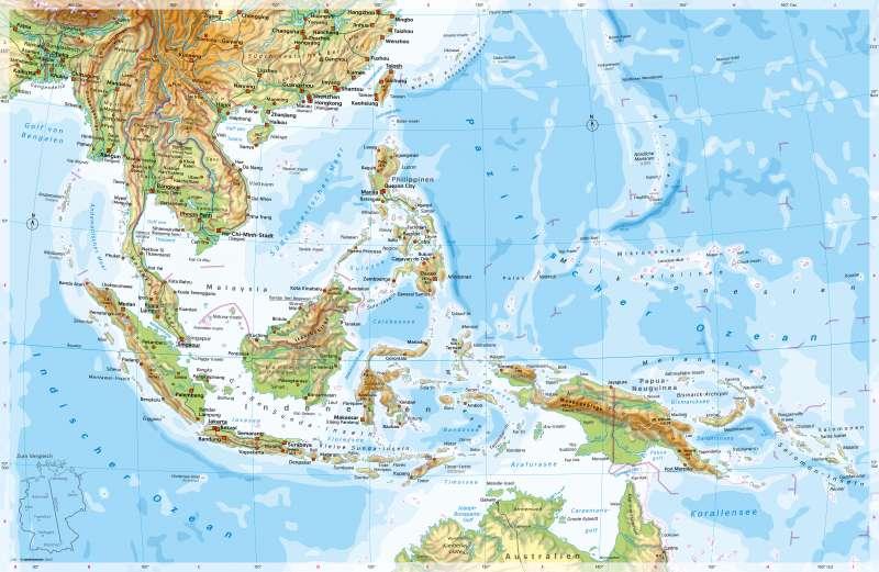 Diercke Weltatlas Kartenansicht Sudostasien Physische Karte