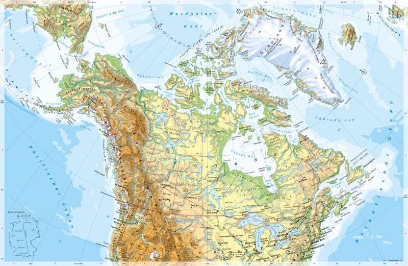 Nordpolarmeer Karte.Diercke Weltatlas Kartenansicht Nordamerika Nördlicher Teil