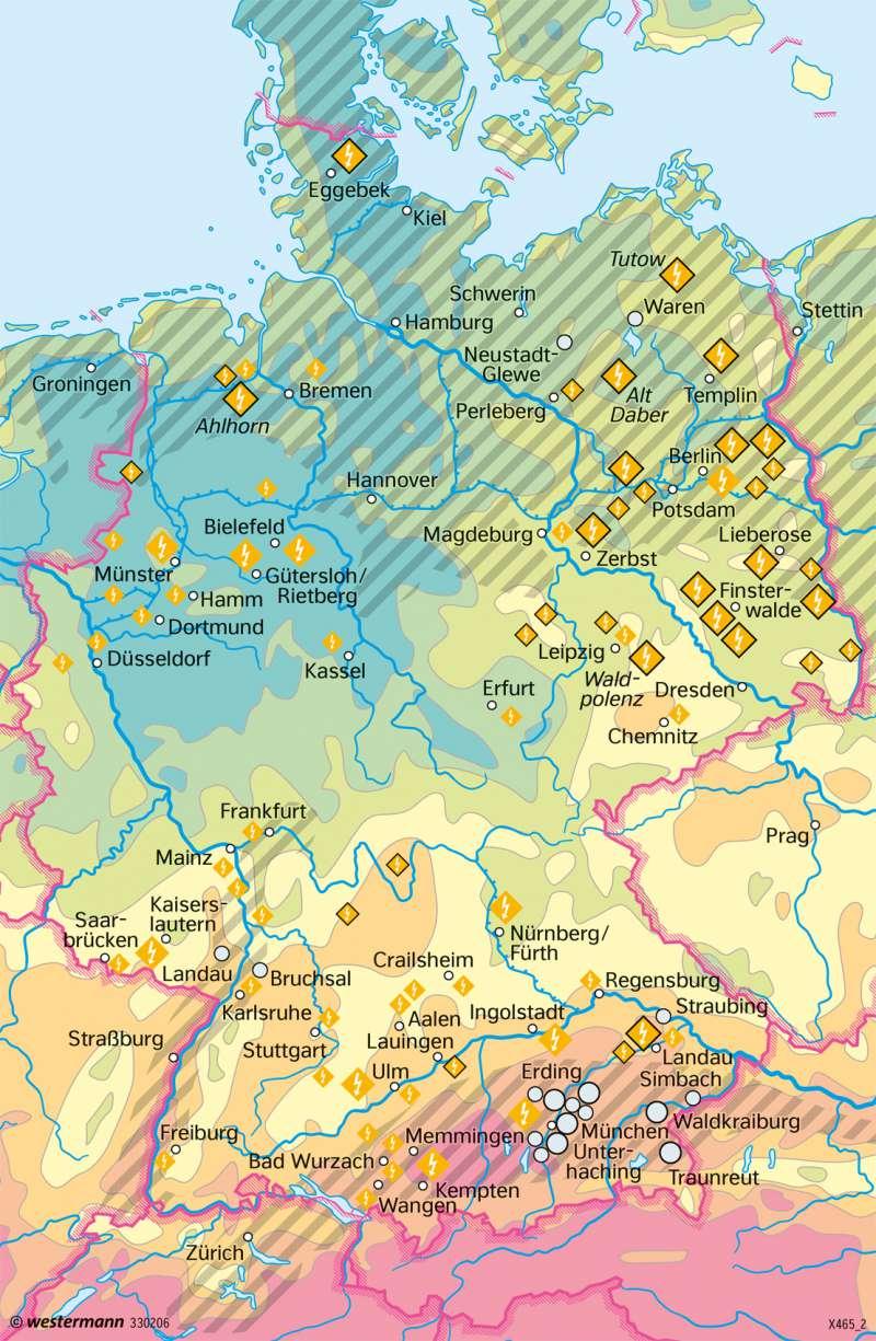 Deutschland   Erneuerbare Energie aus Sonne und Erdwärme   Deutschland - Energiewende   Karte 85/2