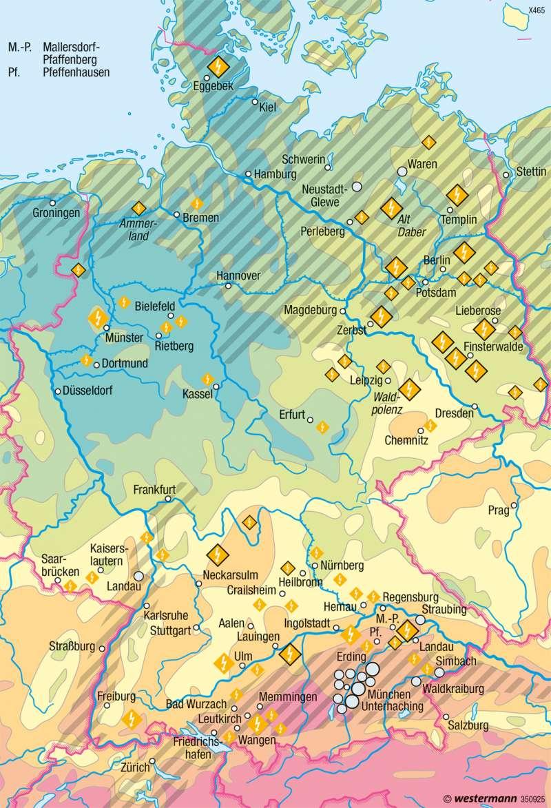 Deutschland | Sonnenenergie und Geothermie | Energie | Karte 47/2
