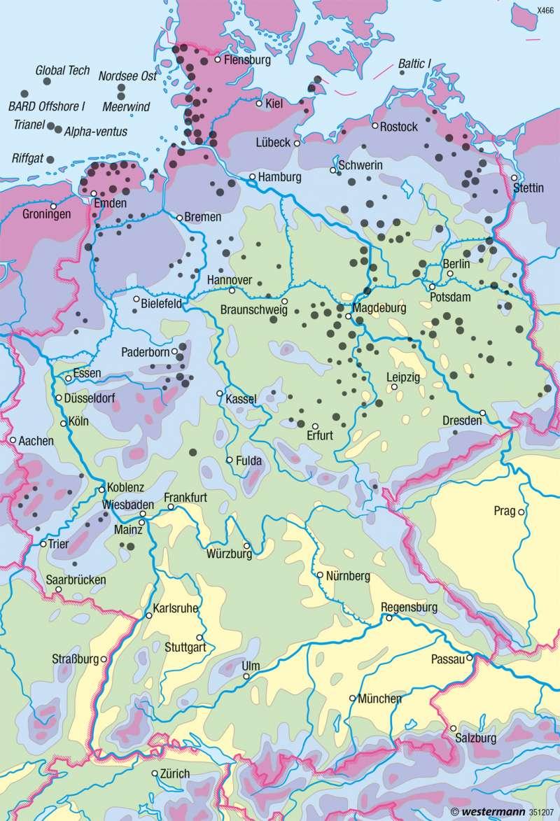 Deutschland | Windenergie | Energie | Karte 47/3