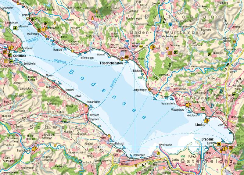 Bodensee   Tourismus   Kartenlesen - Eine thematische Karte lesen und auswerten   Karte 13/4