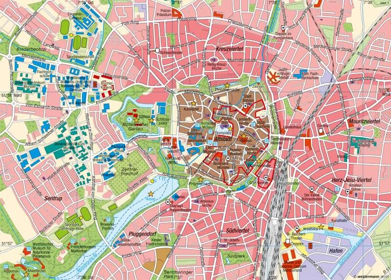 münster karte Diercke Weltatlas   Kartenansicht   Münster   Stadtzentrum und