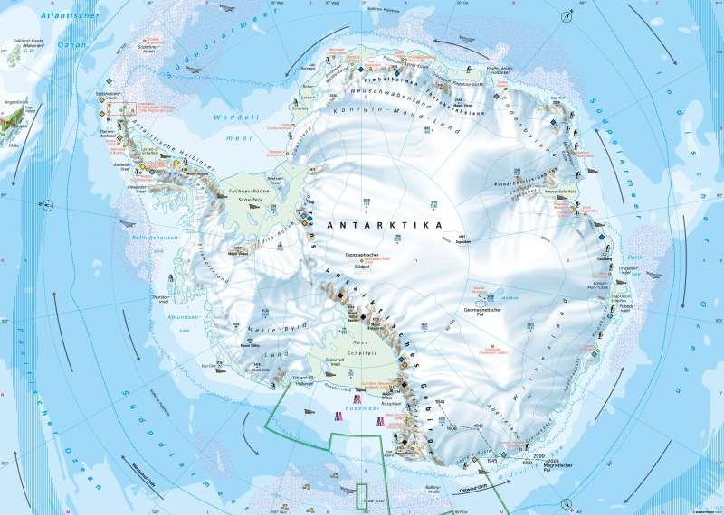 Südpolargebiet | Naturraum | Polargebiete | Karte 202/1