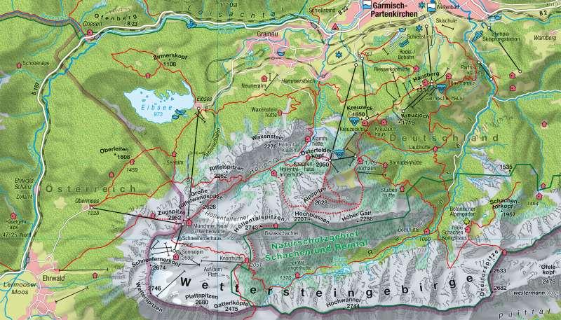 Werdenfelser Land | Tourismus in den Alpen | Deutschland - Tourismus | Karte 63/4