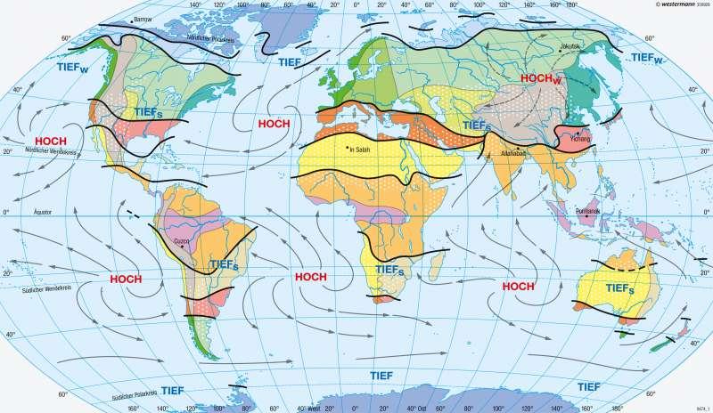 Erde | Klimate der Erde nach E. Neef (1954) | Genetische Klimaklassifikation | Karte 176/1