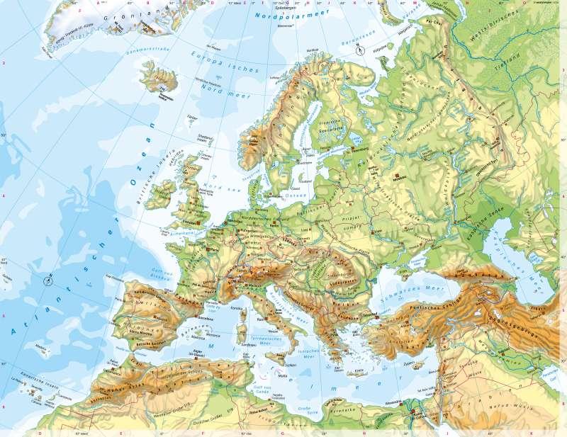 Diercke Weltatlas Kartenansicht Europa Physische Ubersicht
