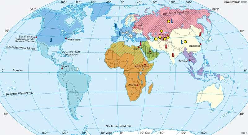 Politische und militärische Bündnisse 2017 |  | Erde | Karte 31/3