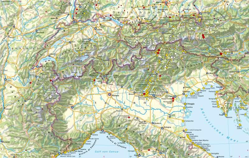 Alpen   Sommer- und Wintertourismus   Alpen - Tourismus   Karte 94/1