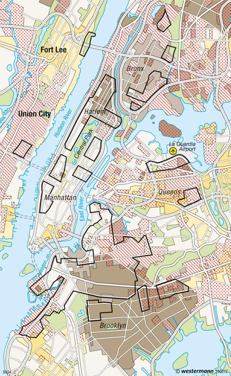 New York | Kulturgeprägte Wohngebiete | Global Cities | Karte 155/2