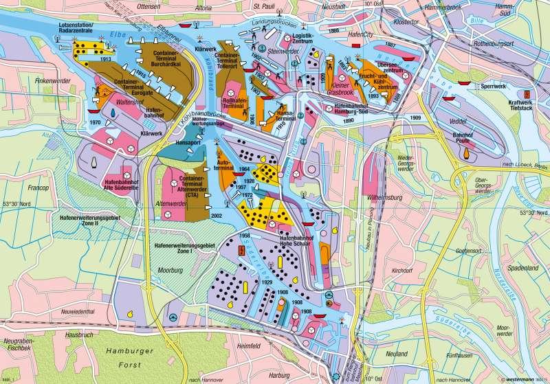karte hamburg hafen Diercke Weltatlas   Kartenansicht   Hamburg   Hafen   978 3 14