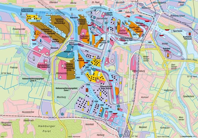 Hamburg | Hafen | Verkehr | Karte 44/5