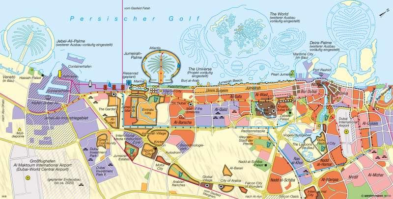 Dubai | Ausbau zur Global City | Naher und Mittlerer Osten - Siedlungsentwicklung | Karte 181/7