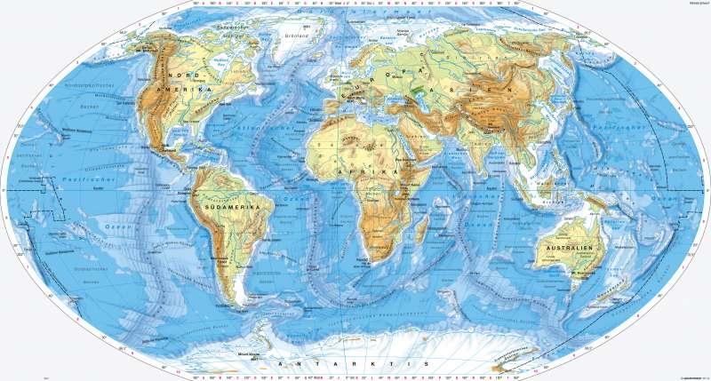 Erde   Physische Übersicht   Physische Übersicht   Karte -2/1
