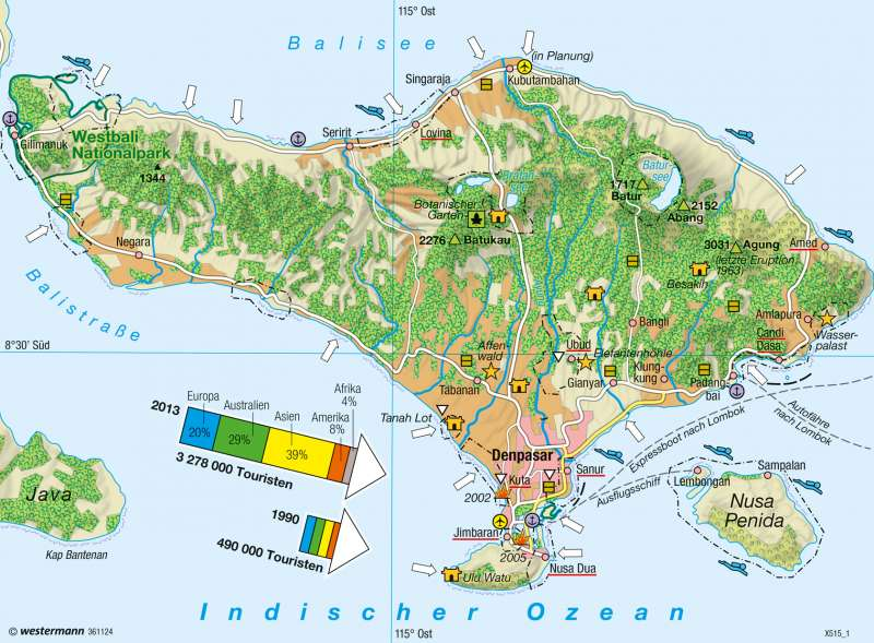 Diercke Weltatlas Kartenansicht Bali Tourismus 978 3 14