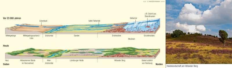 Norddeutsches Tiefland | Eiszeitliche Prägung | Naturraum | Karte 31/3
