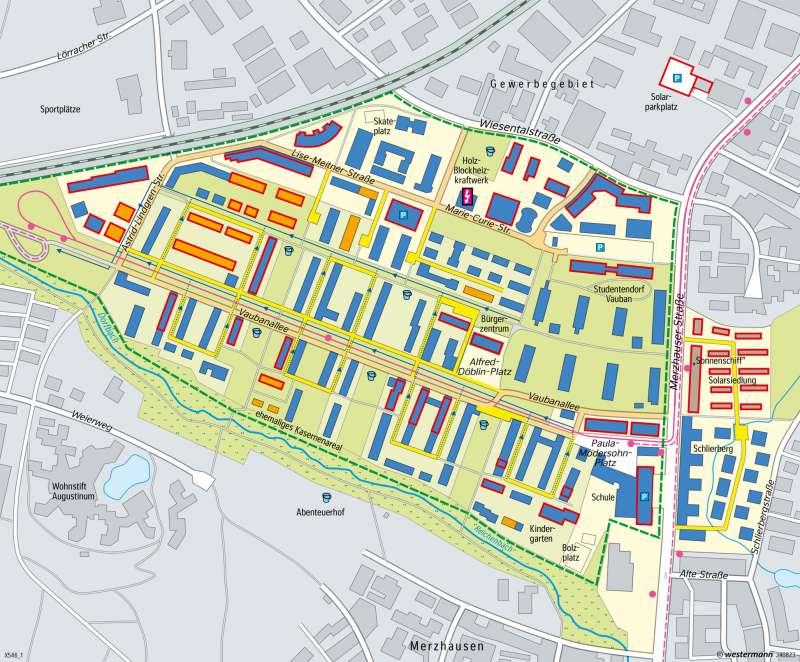 Quartier Vauban (Freiburg) | Nachhaltige Stadtentwicklung | Deutschland - Nachhaltige Entwicklungspfade | Karte 83/6