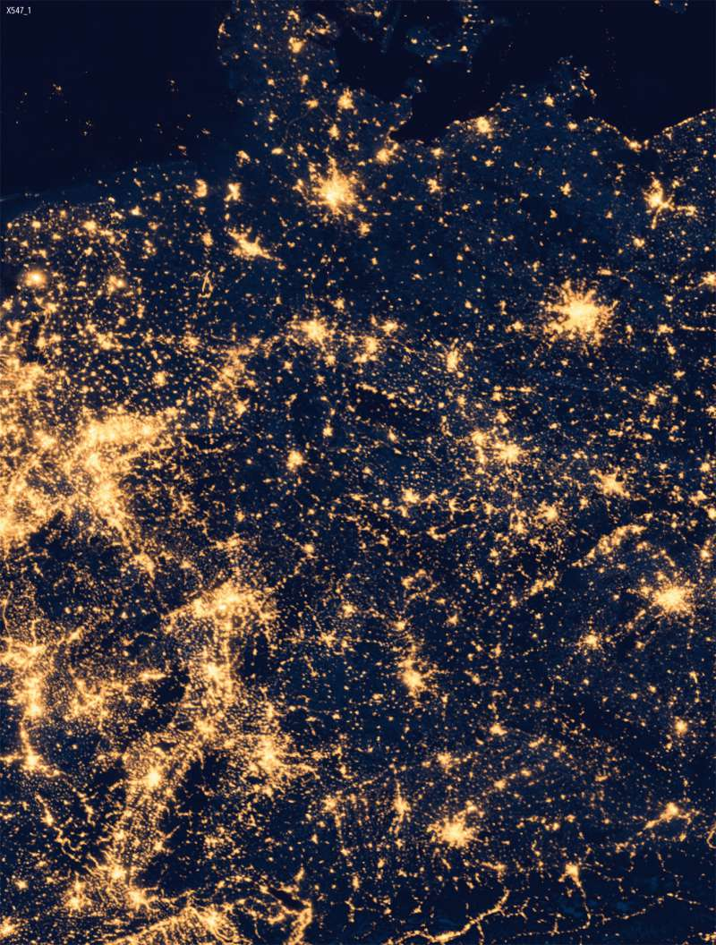 Lichtverschmutzung Karte Welt.Diercke Weltatlas Kartenansicht Deutschland Besiedlung
