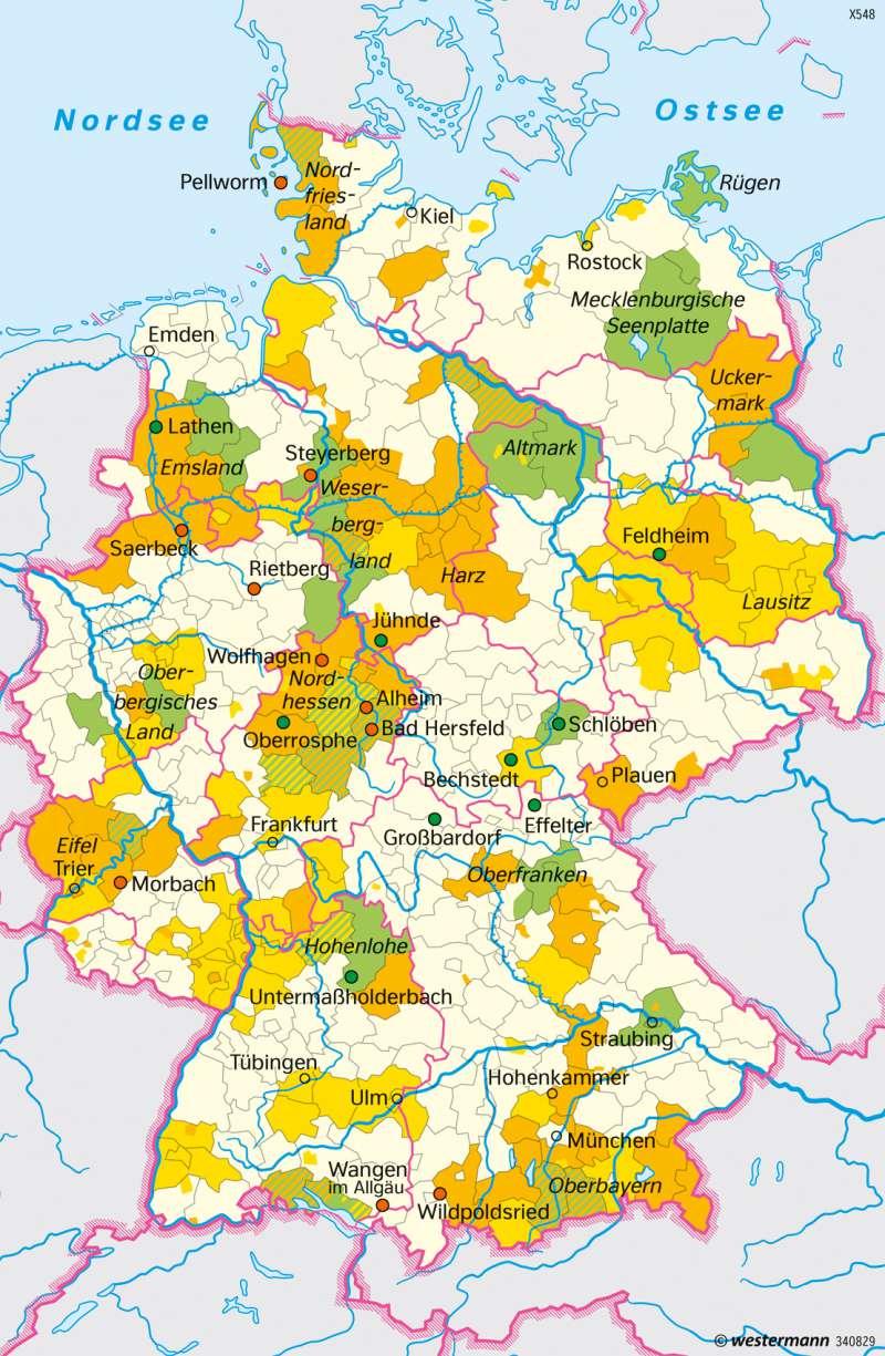 Diercke Weltatlas Kartenansicht Deutschland Energieautarke