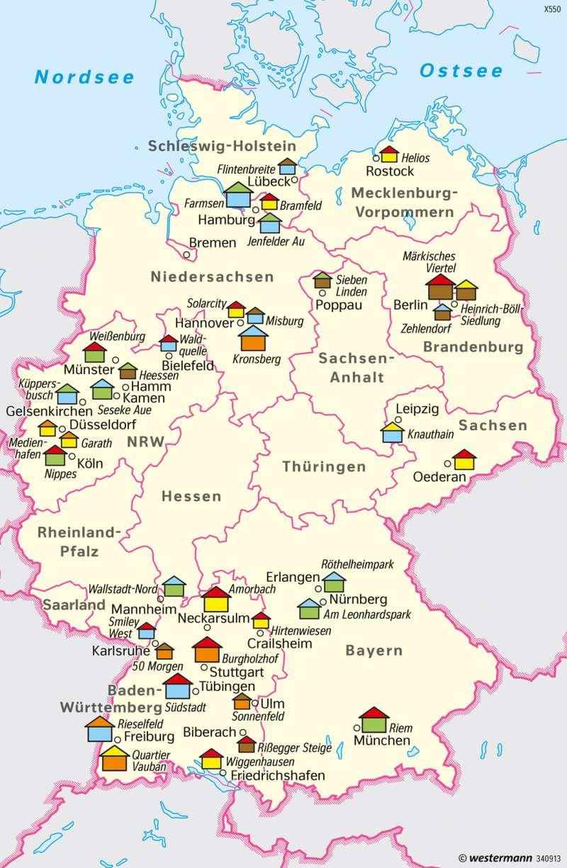 Deutschland | Nachhaltiger Siedlungsbau | Deutschland - Nachhaltige Entwicklungspfade | Karte 82/4