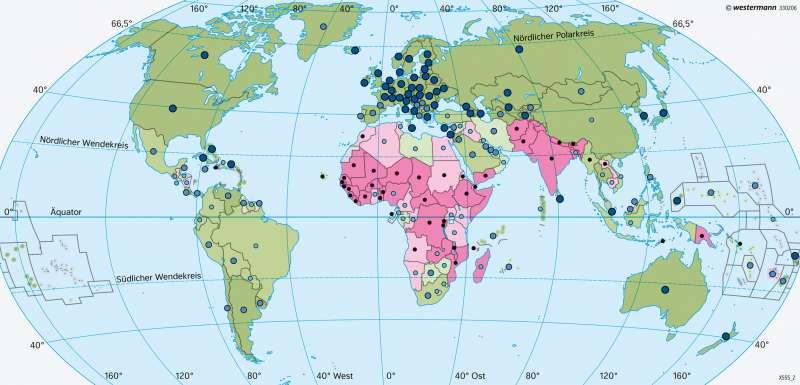 Erde   Bildung   Erde - Entwicklungsstand der Staaten   Karte 41/4