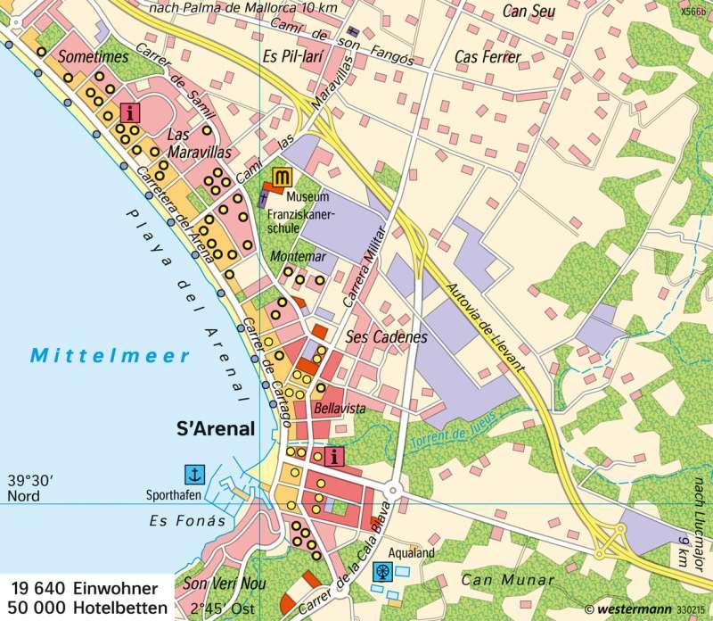 S'Arenal (Mallorca) | Badetourismus | Europa - Tourismus | Karte 121/3