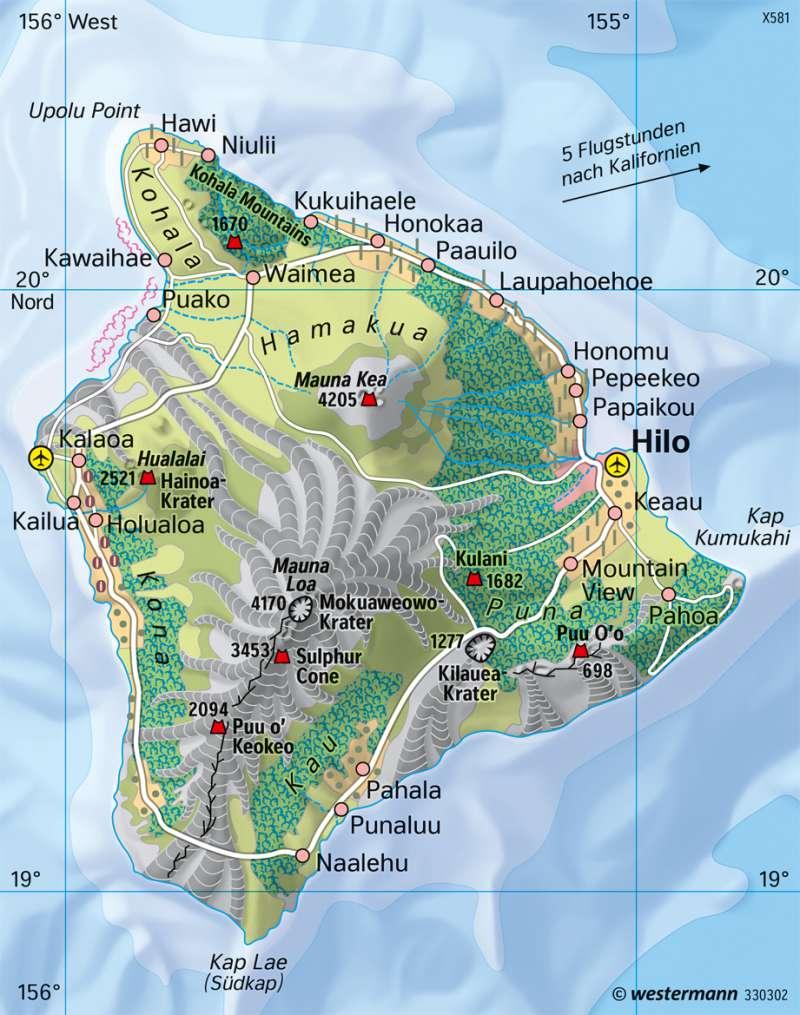 Hawaii | Vulkaninsel | Australien/Ozeanien - Orientierung | Karte 199/3