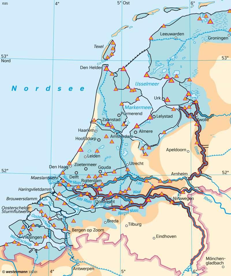 Niederlande | Entwässerung | Leben mit dem Wasser | Karte 133/5