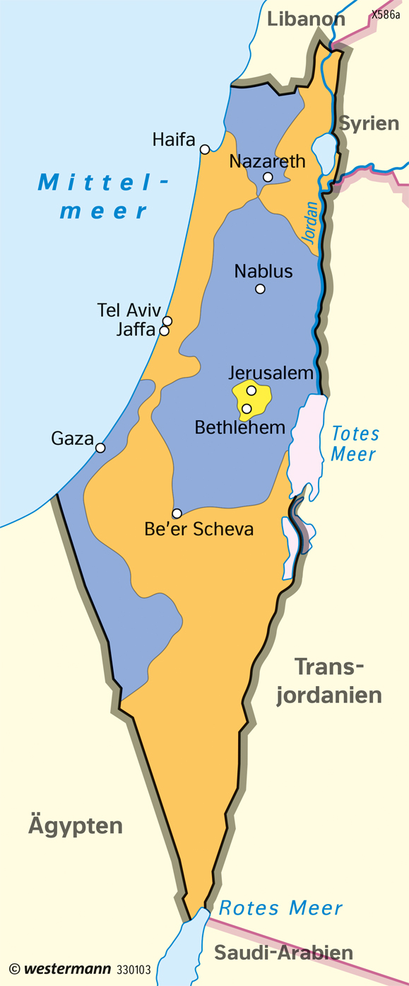 Diercke Weltatlas - Kartenansicht - Israel - Staatliche