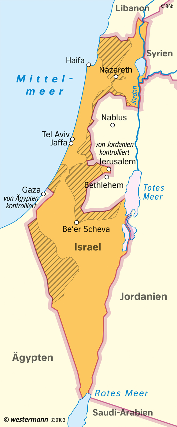 Israel | Staatliche Entwicklung | Siedlung und Landnutzung | Karte 177/3