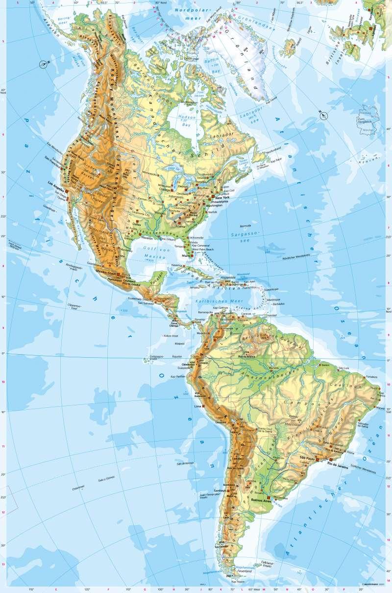 Diercke Weltatlas Kartenansicht Amerika Physische Ubersicht