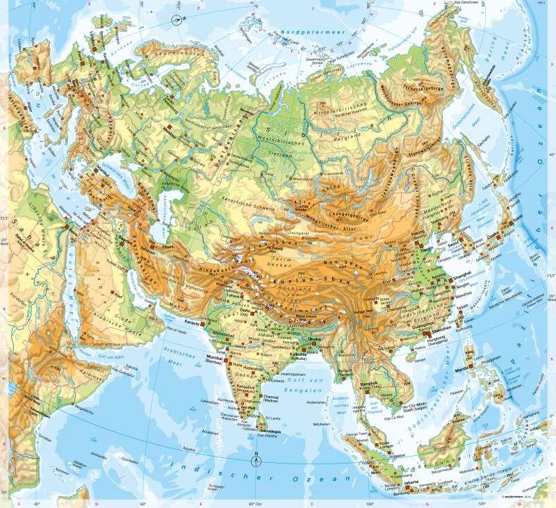 Uralgebirge Karte.Diercke Weltatlas Kartenansicht Eurasien Physische