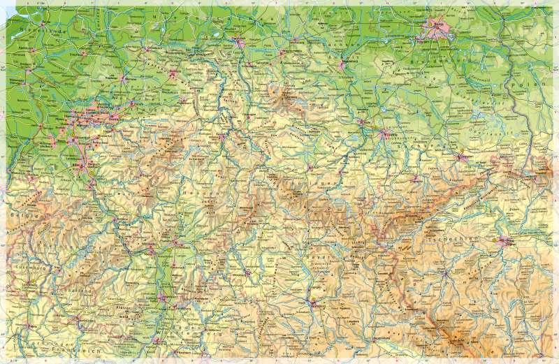 Diercke Weltatlas Kartenansicht Deutschland Mittlerer Teil