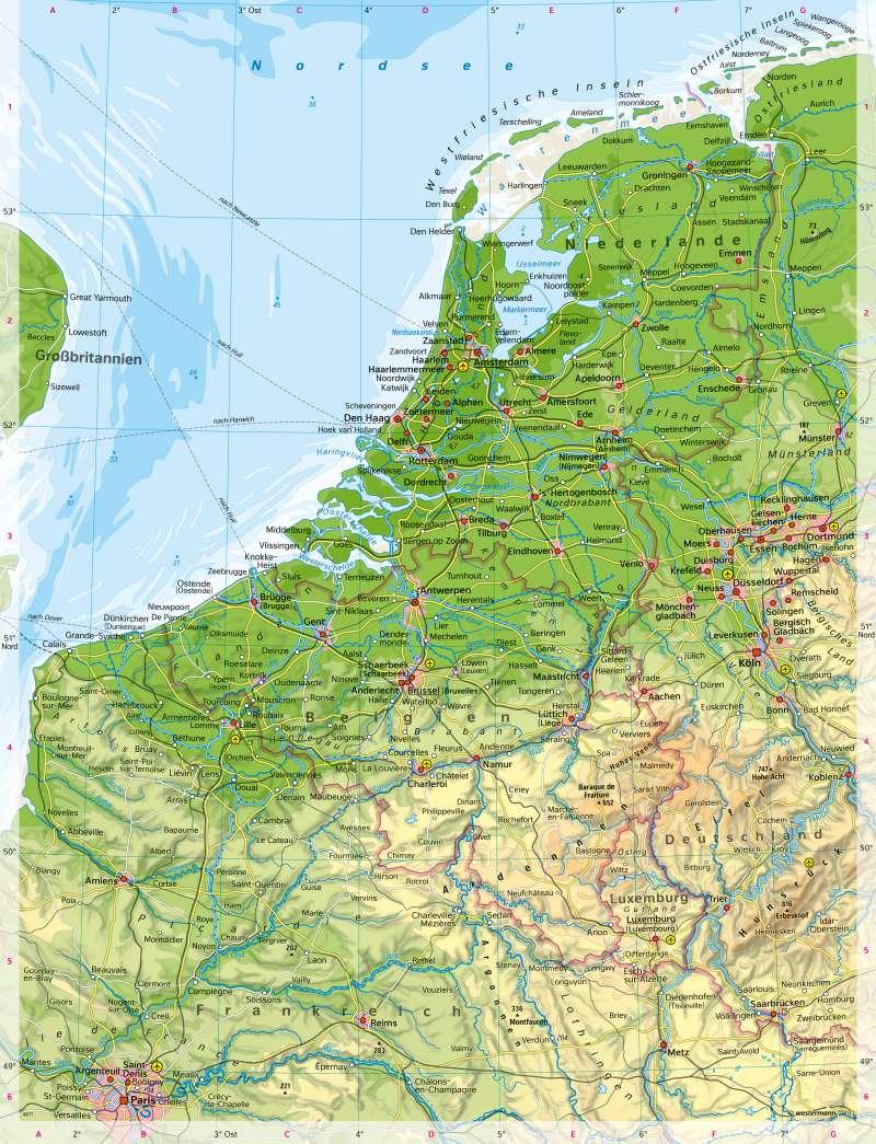 Diercke Weltatlas Kartenansicht Belgien Niederlande